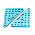 Makeblock - Triangle Plate 6x8-Blue(Pair)
