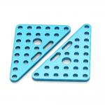 Makeblock - Trokutasti nosač/pločica sa rupama 6x8cm - Plavi (Par)