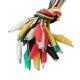 10 x kom raznobojni kabel sa aligator štipaljkama 50cm