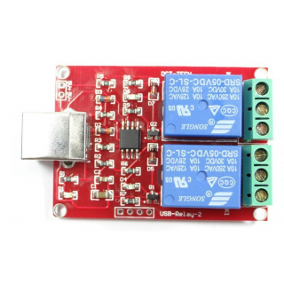 USB Control Switch 2-Channel 5V Relay Module