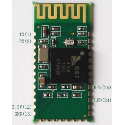 HC-07 Bluetooth modul - Serial RS232 / TTL na UART konverter i adapter