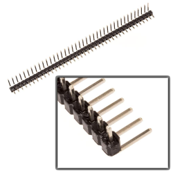 Header - 1x40 - Right Angle - Male