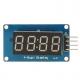 4 Bits TM1637 Red Digital Tube LED Display Module With Clock