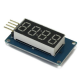 4 Bits TM1637 Red Digital Tube LED Display Module With Clock