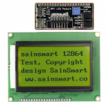 SainSmart SPI 128x64 Graphic Yellow LCD Display Module Backlight For Arduino UNO R3 Duemilanove MEGA2560 MEGA1280 AVR