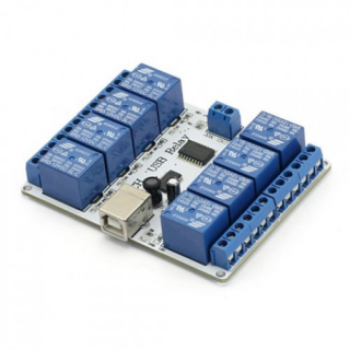SainSmart 8-channel 12 V USB Relay Board Module Controller For Automation Robotics