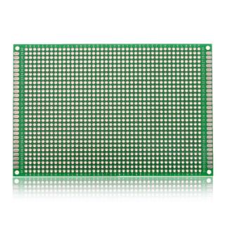 80*120mm Double-Side Prototype Board PCB, FR-4 Glass Fiber