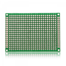 50*70mm Double-Side Prototype Board PCB, FR-4 Glass Fiber