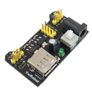 Breadboard dedicated power supply module compatible 5V, 3.3V