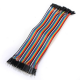 40PCS Dupont wire jumpercables 21cm 2.55MM Female to Male for Arduino