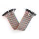 40PCS Dupont wire jumpercables 21cm 2.55MM Female to Female for Arduino