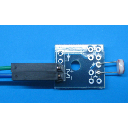 Photoresistor sensor with a small plate with two 20cm long the DuPont line for Arduino