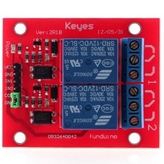 2-Channel 5V 12V Relay Shield Module for Arduino