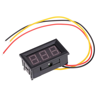 SYV099 0-99.9V three wire power supply 4.0-30V digital voltmeter head with reverse polarity protection For Arduino