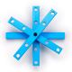 Makeblock - Nosač 0808-072-Plavi (4 kom)