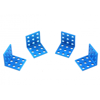 MakeBlock - Bracket 3x3-Blue (4-Pack)