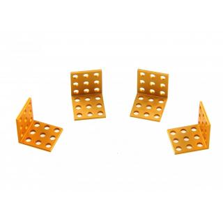 MakeBlock - Bracket 3x3-Gold (4-Pack)