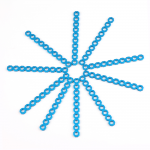 Makeblock - Cuttable Linkage 080 - Blue (10-Pack)
