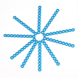 Makeblock - Cuttable Linkage 080 - Blue (10-Pack)