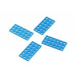 MakeBlock - Plate 3x6cm - Blue (4-Pack)